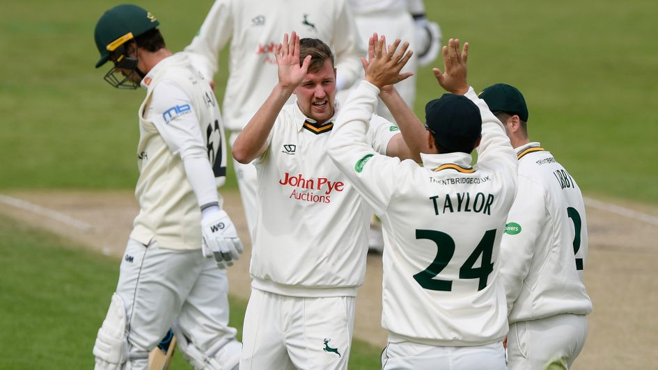 Jake Ball and Nottinghamshire celebrate