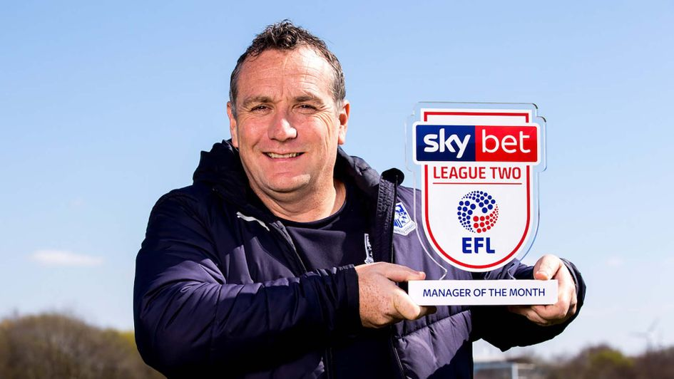 Tranmere Rovers boss Micky Mellon wins manager of the Month for March