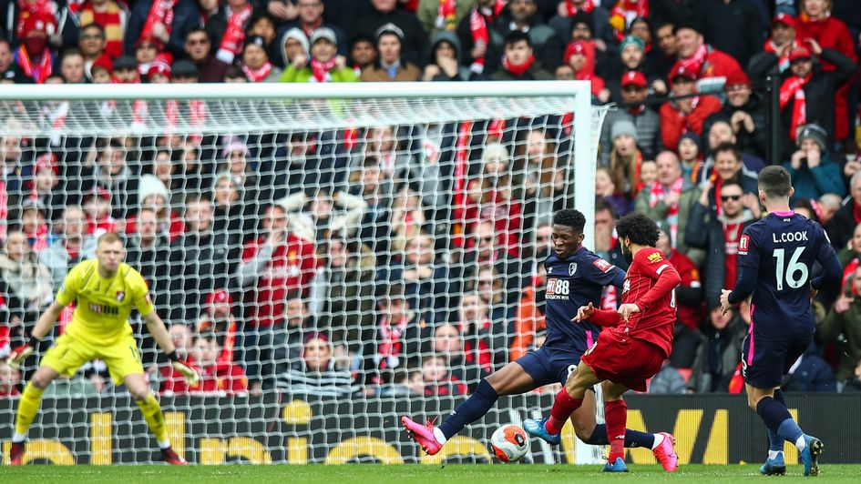Mo Salah: Liverpool forward scores against Bournemouth at Anfield
