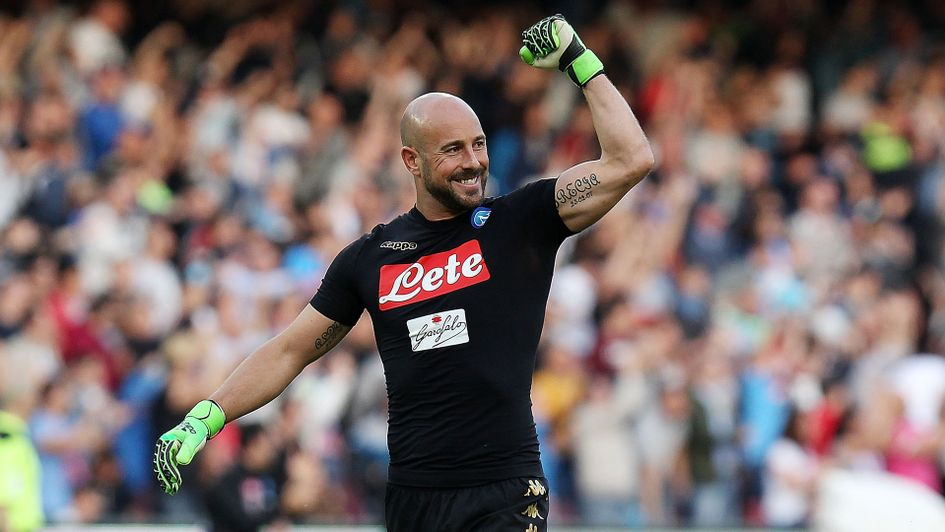 Pepe Reina: Former Liverpool goalkeeper, pictured here with Napoli, could be returning to England