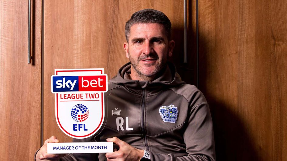 Ryan Lowe wins the League Two Manager of the Month award for February