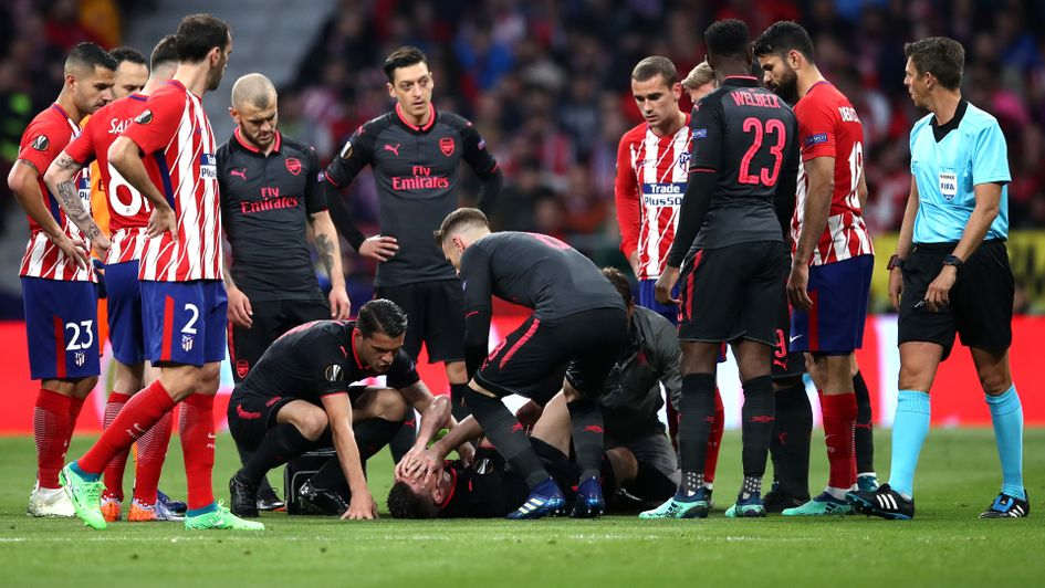 Laurent koscielny could miss the world cup football - Miss sixty madrid ...