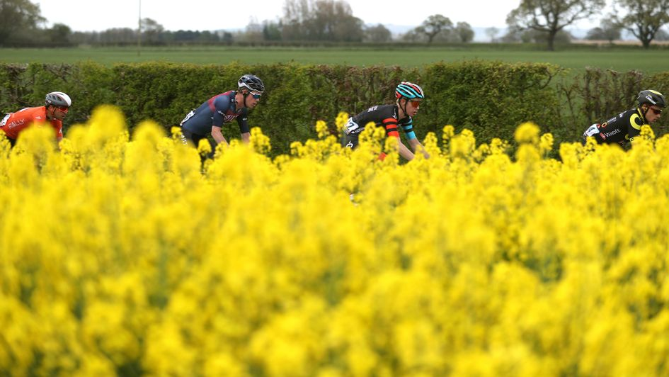The peloton during stage one of the Tour de Yorkshire