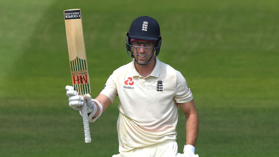 England's Jack Leach in batting action