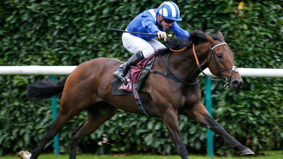 Battaash pictured winning the Prix de l'Abbaye de Longchamp Longines