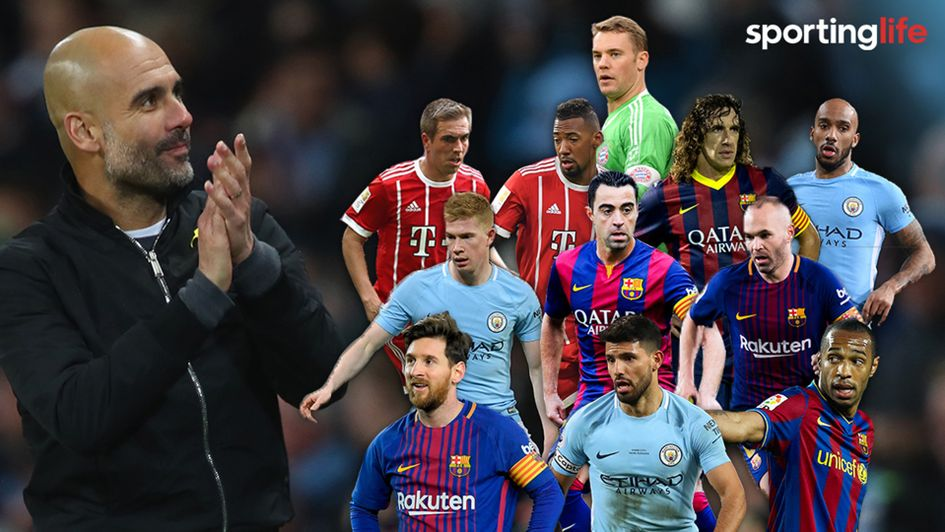 All-time XI: Footballers managed by Pep Guardiola at Manchester ...