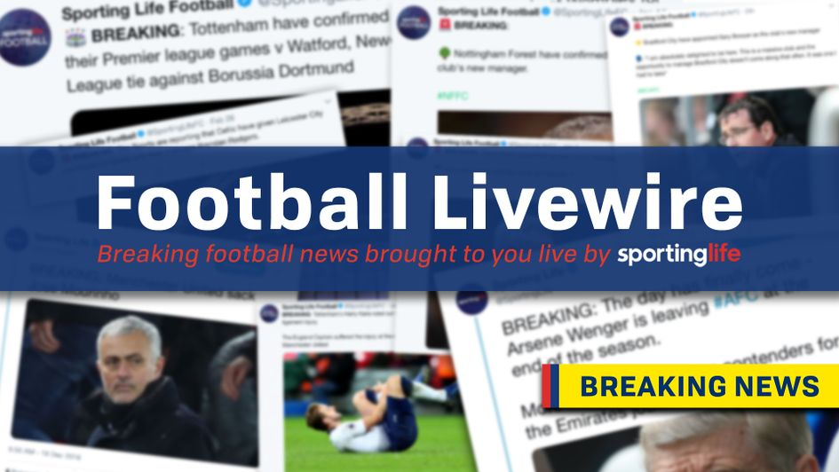 Our new Football Livewire is the best place to stay on top of breaking news
