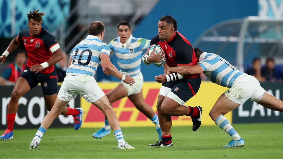 Billy Vunipola was injured in England's victory over Argentina