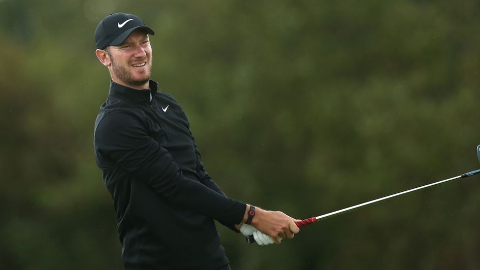 Chris Wood in action at the KLM Open