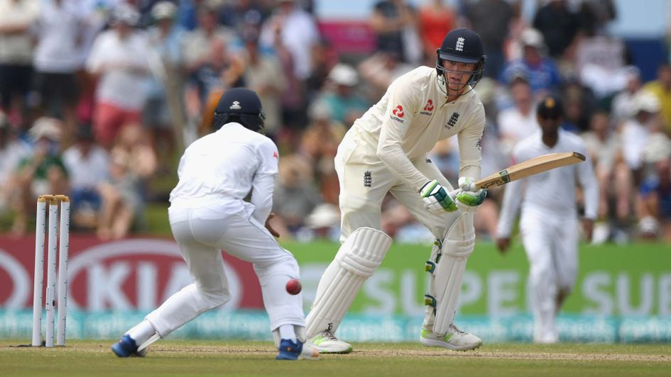 Keaton Jennings in action for England in Sri Lanka