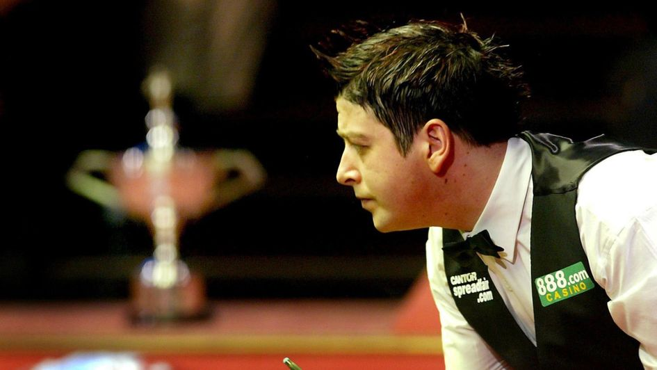 Matthew Stevens in action in the 2005 World Championship final