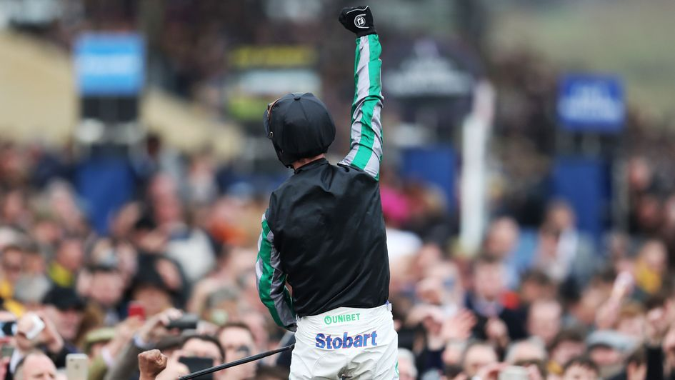 A tremendous reception awaits Altior from the massed ranks of racegoers