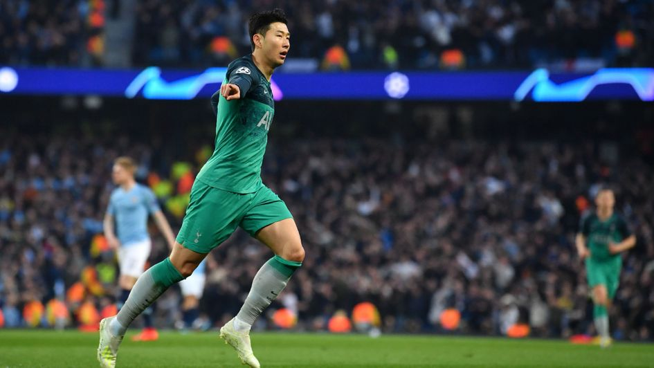 Heung-min Son: The Spurs striker scored twice at the Etihad