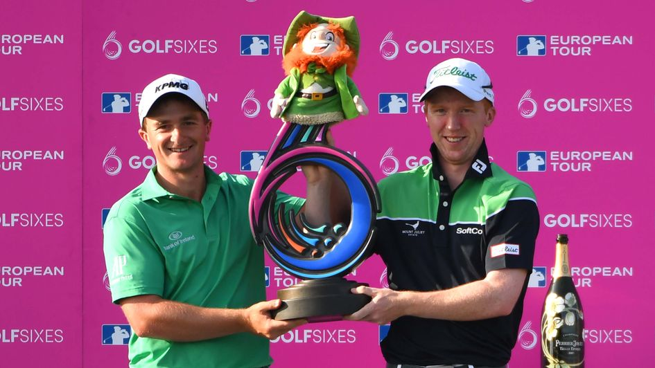 Ireland's Gavin Moynihan and Paul Dunne win the GolfSixes event