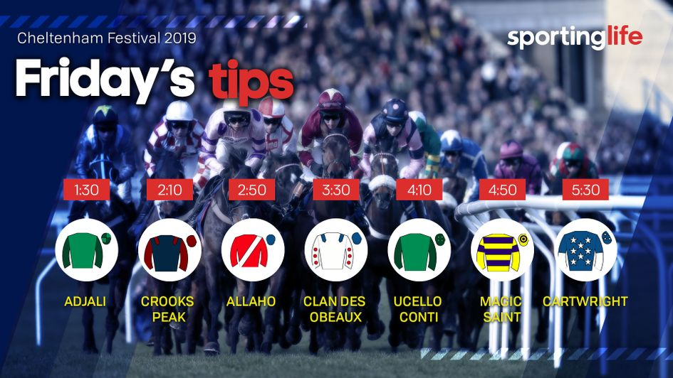 Don't miss our team's top tips for Gold Cup day