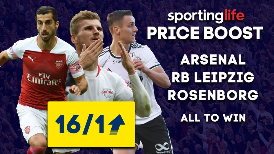 Sporting Life Price Boost: Arsenal, Leipzig and Rosenborg feature