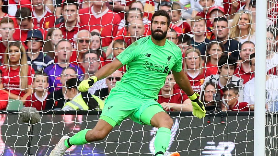 Alisson Becker in action for Liverpool