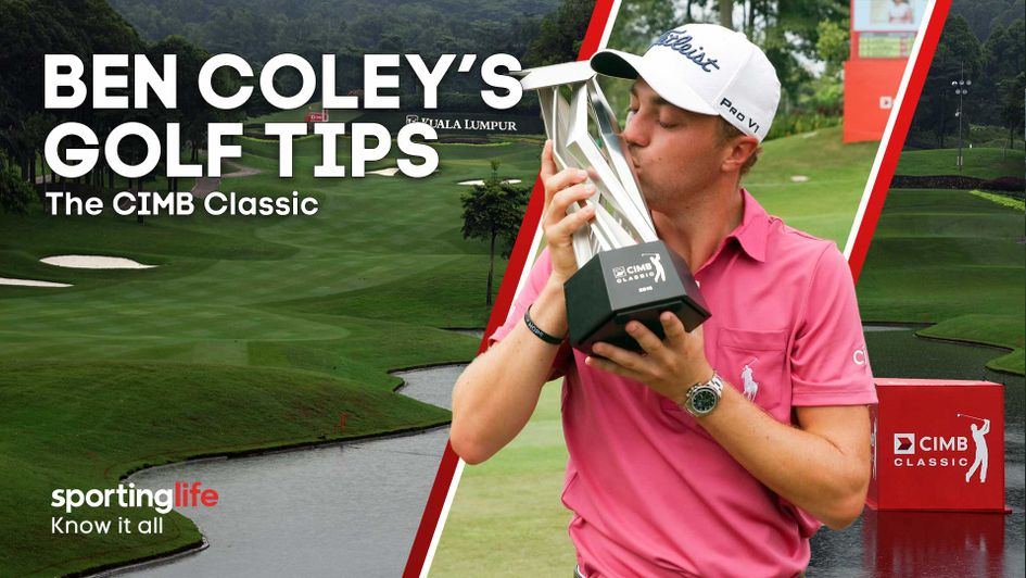 Justin Thomas is favourite to win the CIMB Classic - but will he feature in Ben Coley's staking plan?