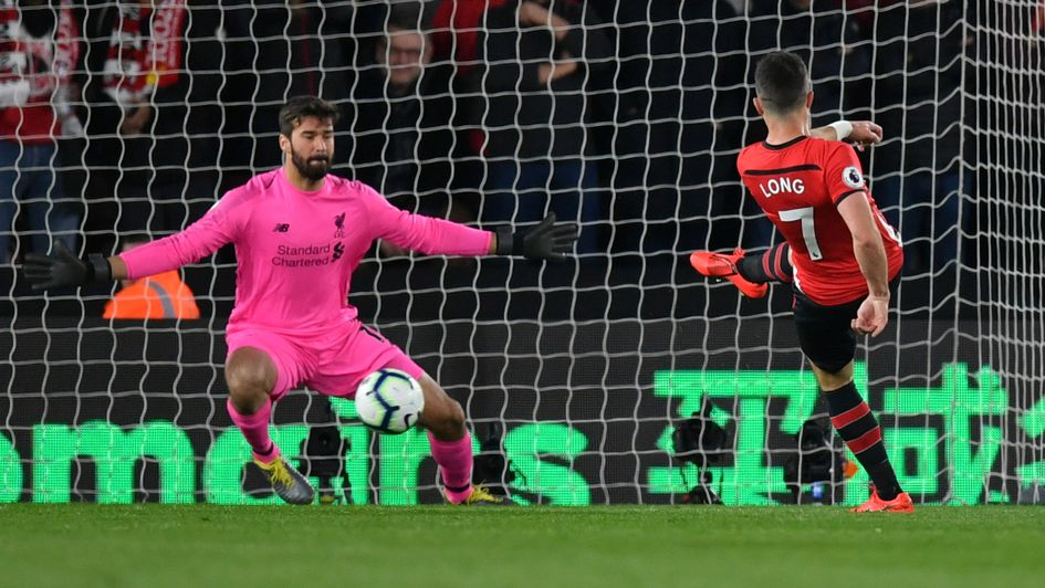 Shane Long: Southampton striker scores against Liverpool at St Mary's