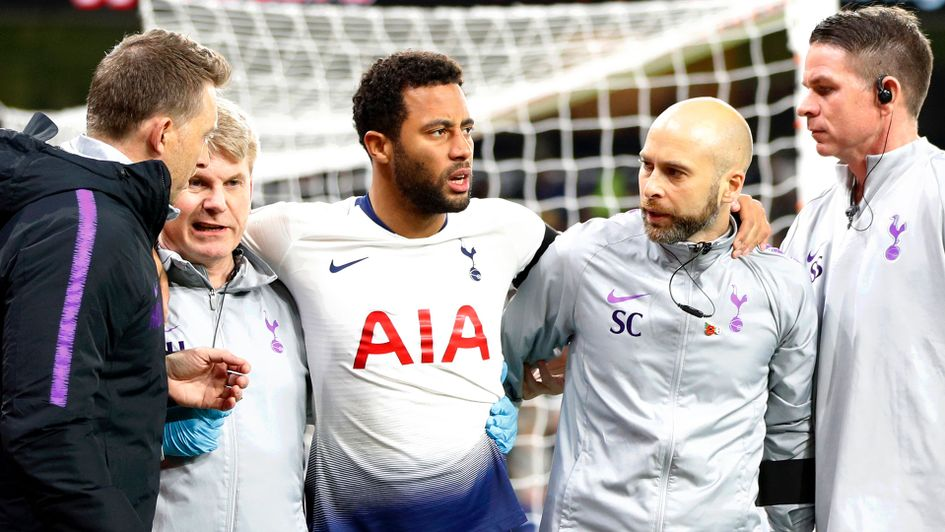 Mousa Dembele was injured during the Premier League win over Wolves