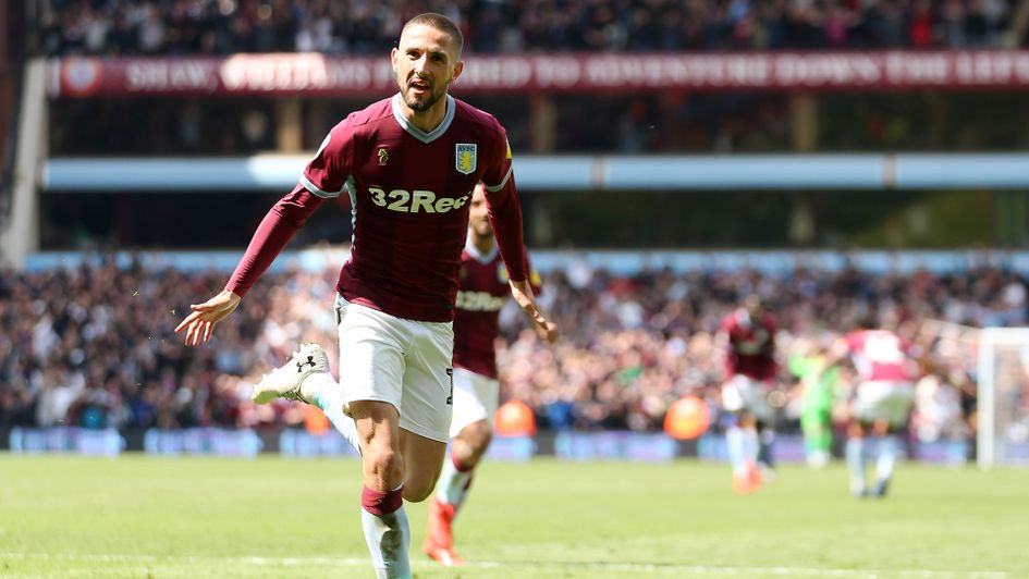 Conor Hourihane celebrates after his goal against West Brom