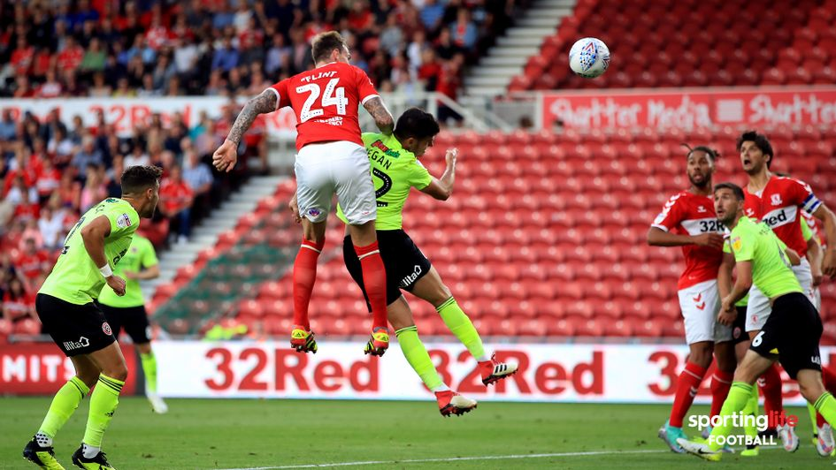 Aden Flint scores against Sheffield United