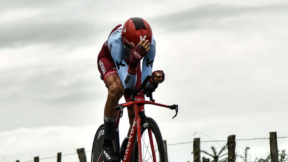 Russian cyclist Ilnur Zakarin in action