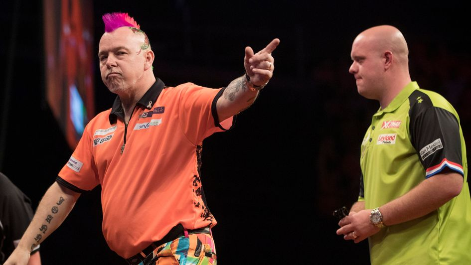 Peter Wright beat MVG in Rotterdam (Picture: Lawrence Lustig/PDC)