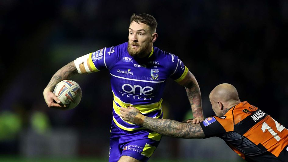 Warrington's Daryl Clark in action