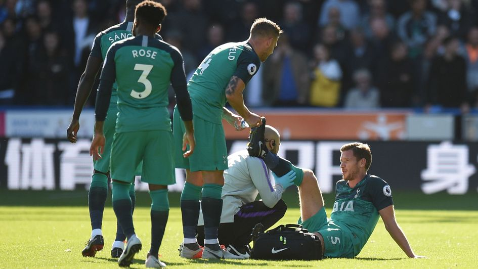 Jan Vertonghen: The defender picked up a hamstring injury against Huddersfield