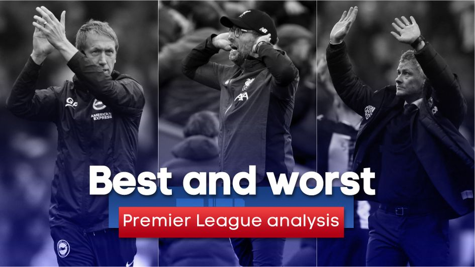 Premier League best and worst: Graham Potter, Jurgen Klopp's Liverpool and Ole Gunnar Solskjaer all feature