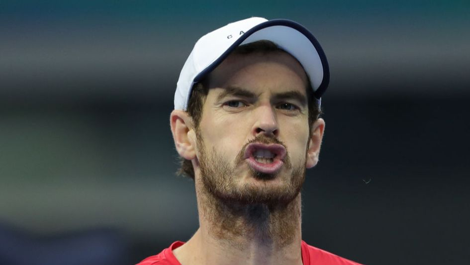 Andy Murray en route to a quarter-final defeat in China