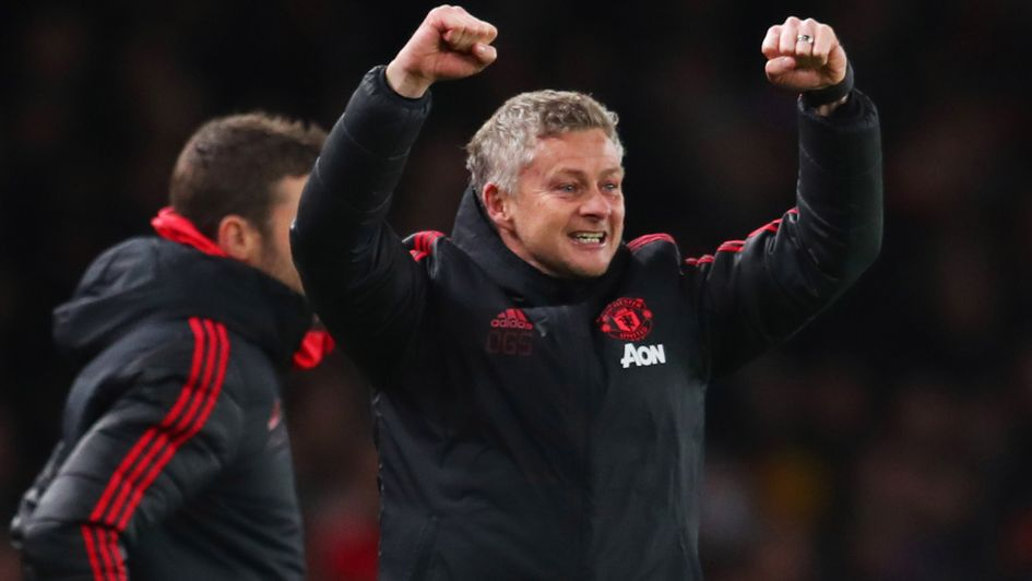 Ole Gunnar Solskjaer  Celebrations after Manchester United s FA Cup win  over Arsenal 5dca970d3