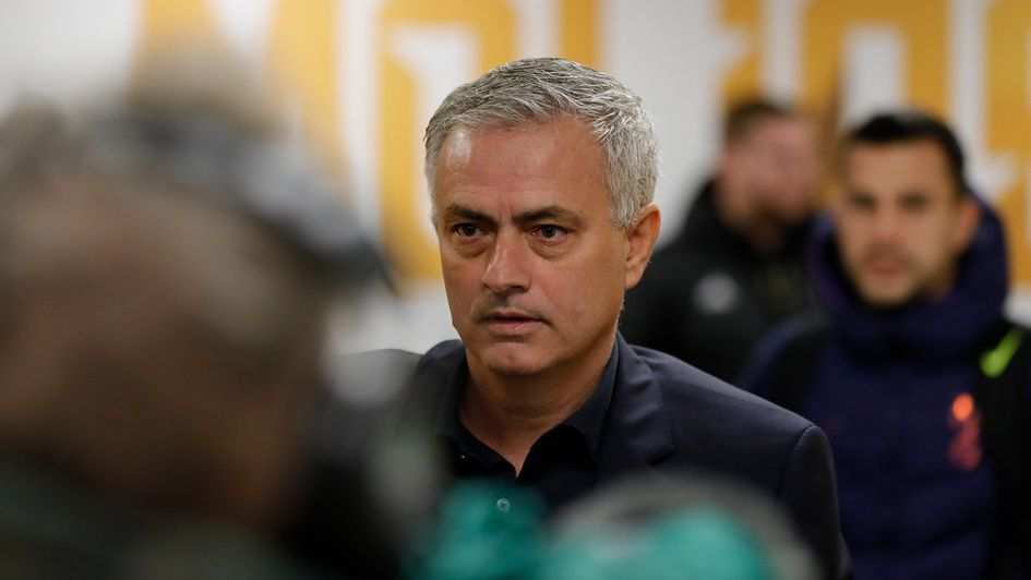 Jose Mourinho arrives for Tottenham's game at Wolves