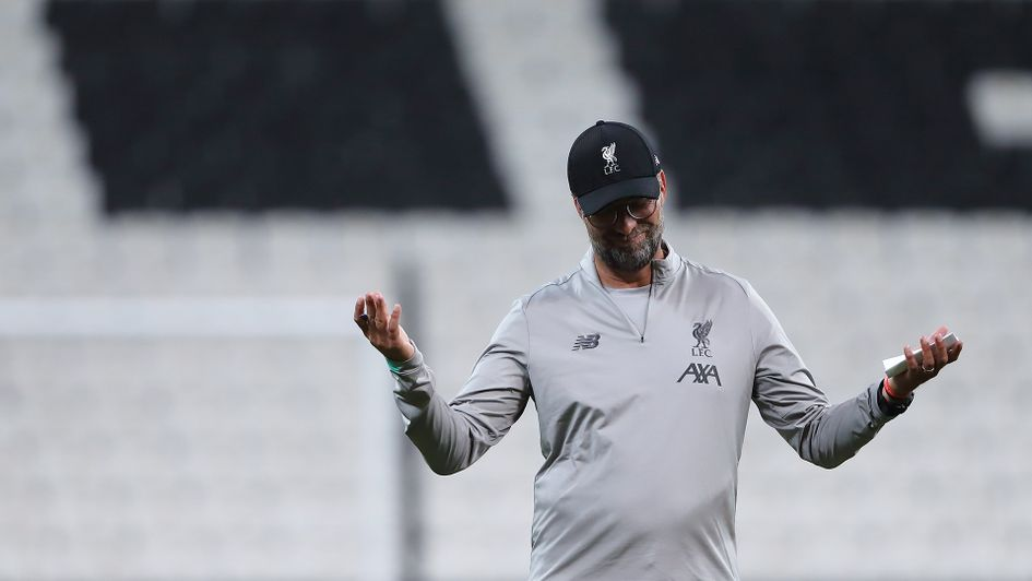 Jurgen Klopp during Liverpool's training session prior to the Super Cup