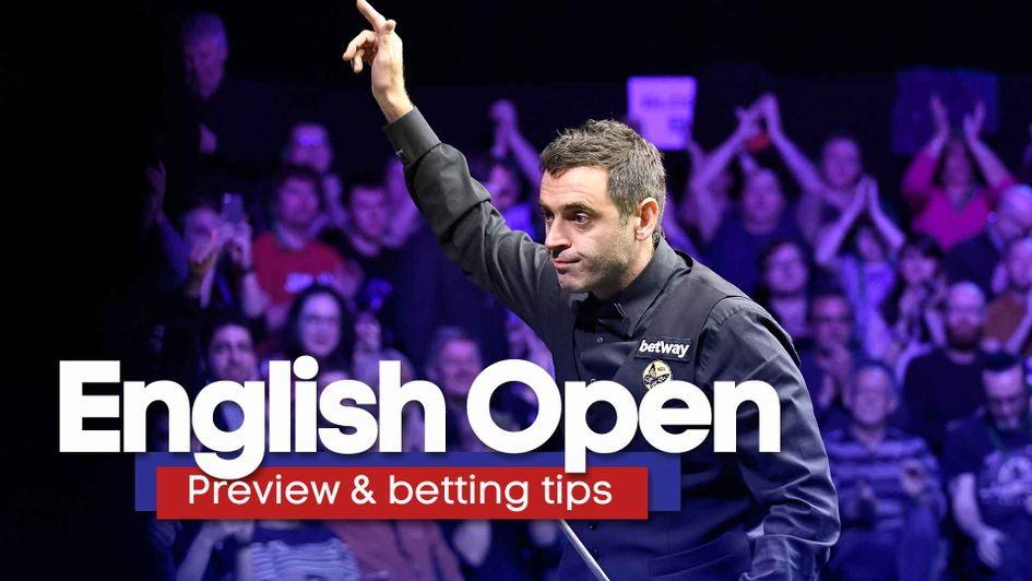 Ronnie O'Sullivan will be in action at the English Open
