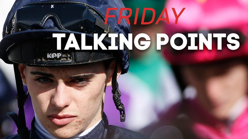 Donnacha O'Brien rides Frosty on Friday