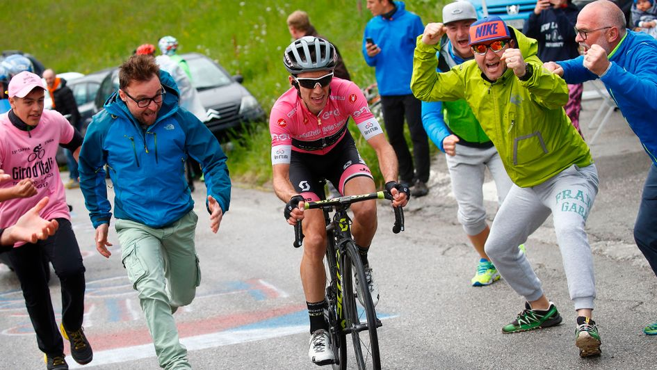 Simon Yates: The British rider is 'happy' with his lead in Giro d'Italia