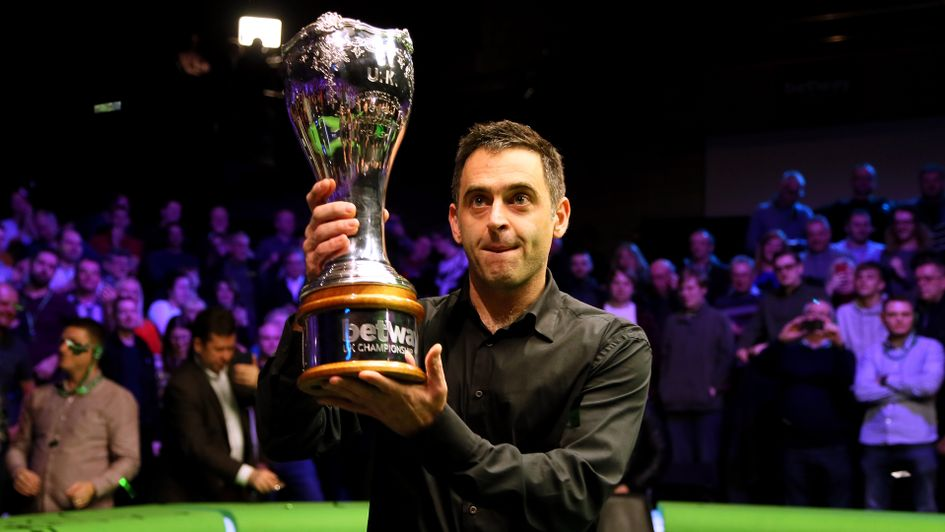 Ronnie O'Sullivan lifts his seventh UK Championship title