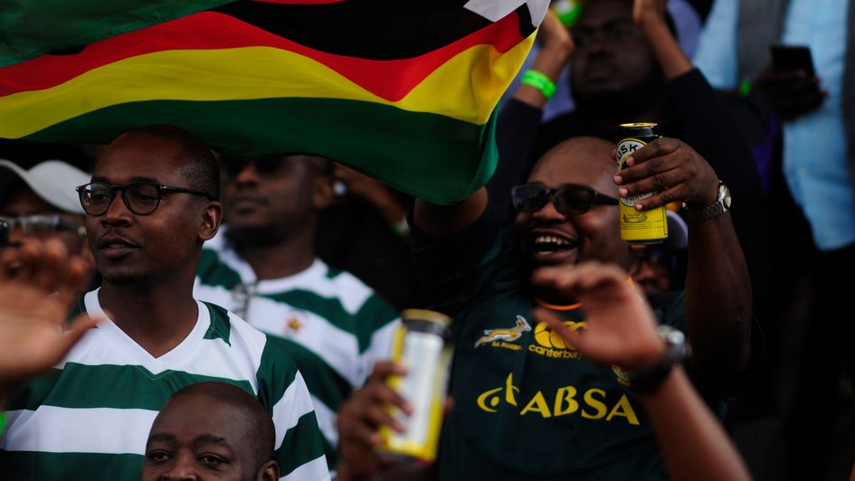 Zimbabwe rugby fans in happier times