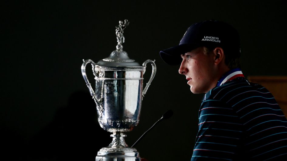 Jordan Spieth with the US Open trophy