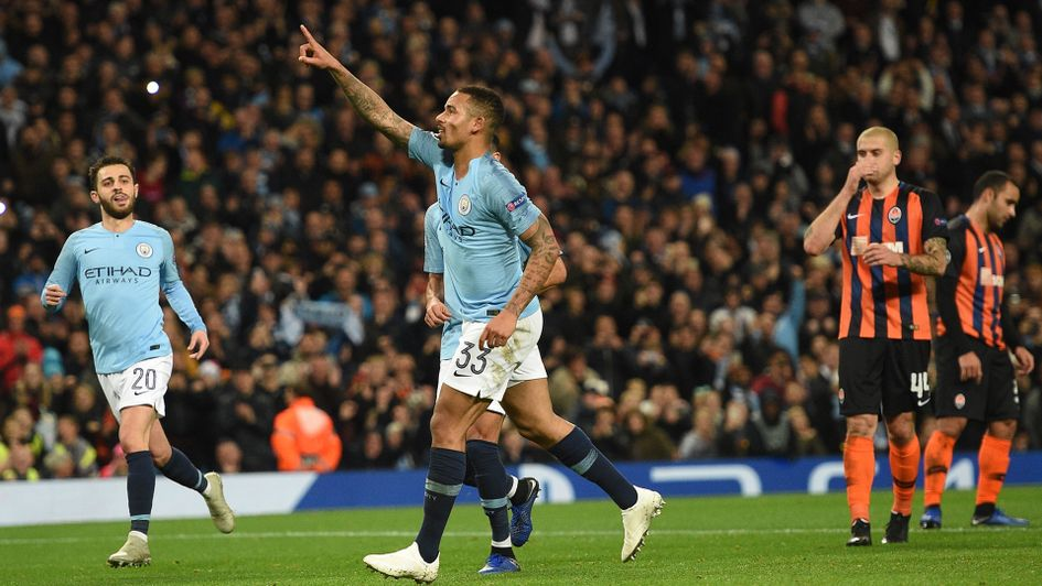Gabriel Jesus netted a hat-trick for City