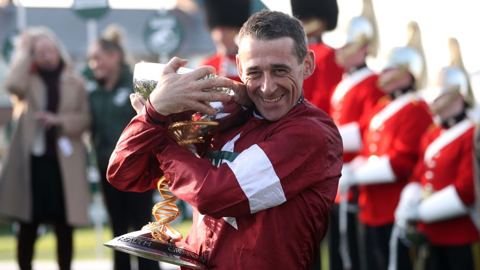 a08c7a0be Davy Russell celebrates winning the 2018 Randox Health Grand National