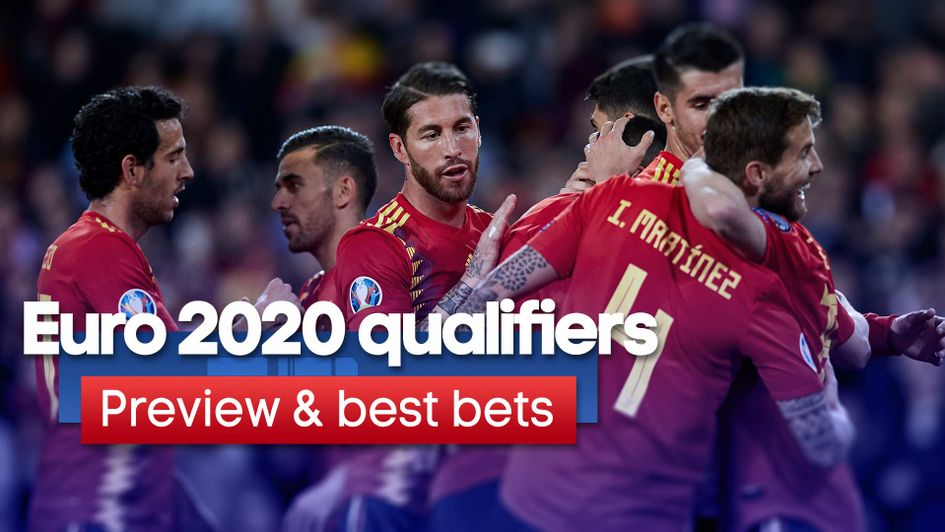 Read Saturday's Euro 2020 qualifying preview and best bets