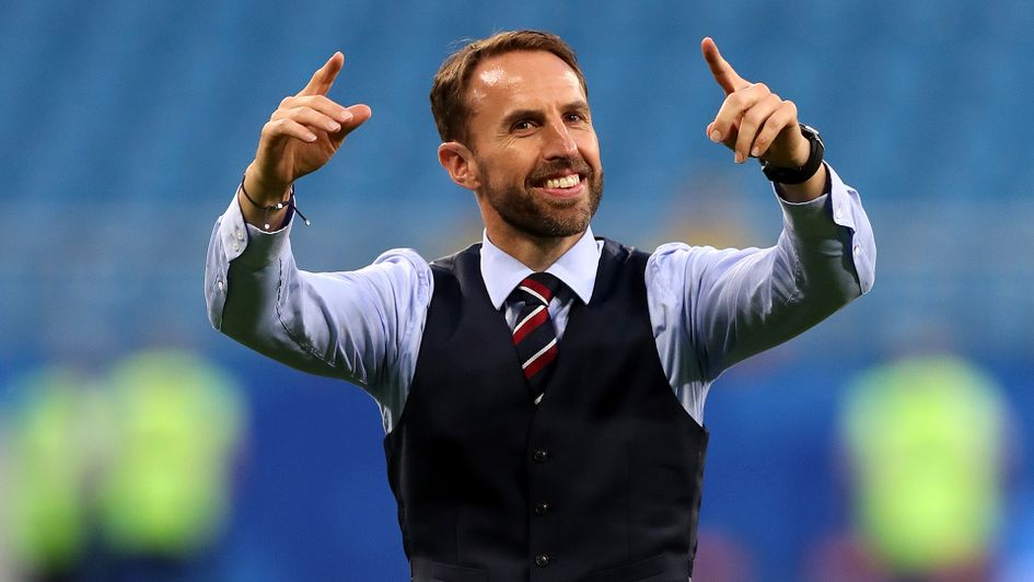 Delight for Gareth Southgate after the win over Sweden