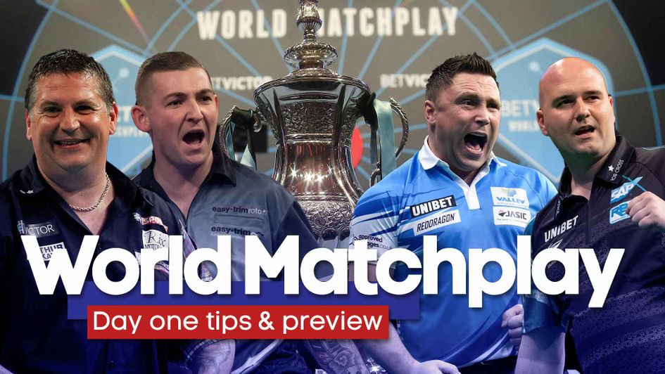 Gary Anderson, Nathan Aspinall, Gerwyn Price and Rob Cross are in action on opening night