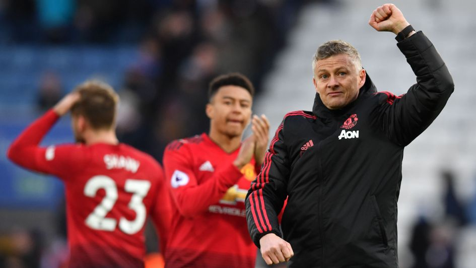 Ole Gunnar Solskjaer: The Norwegian thanks Manchester United's travelling support at Leicester