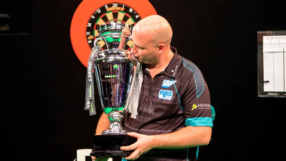Rob Cross is the European champion (Picture: Kais Bodensieck/PDC Europe)