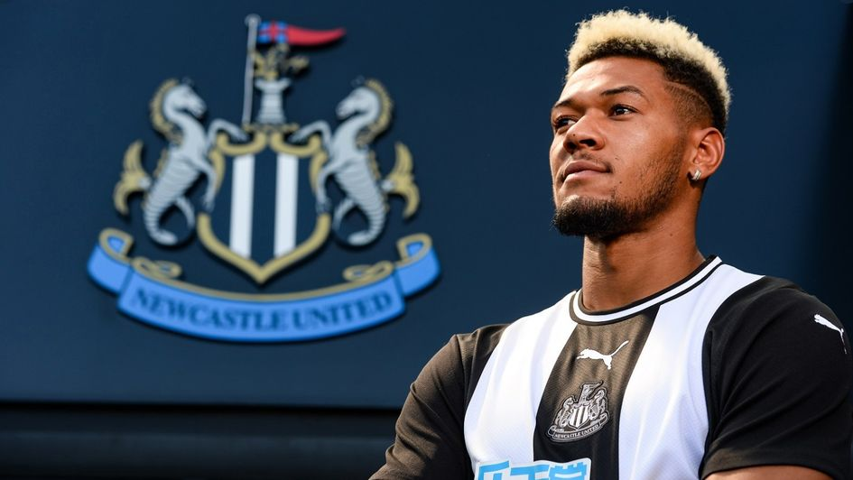 Joelinton: Brazil forward (right) becomes Steve Bruce's first signing at Newcastle