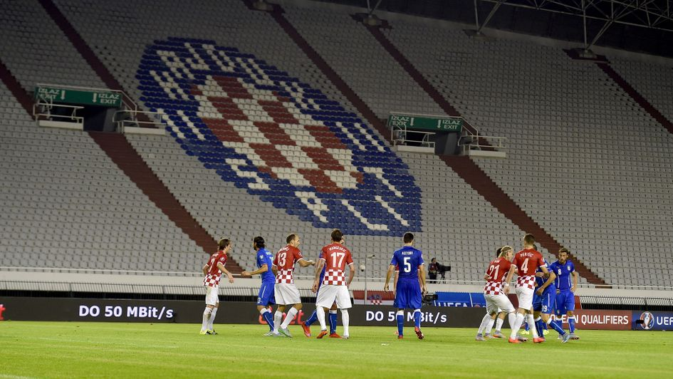 Croatia faced Italy here in a Euro 2016 qualifier